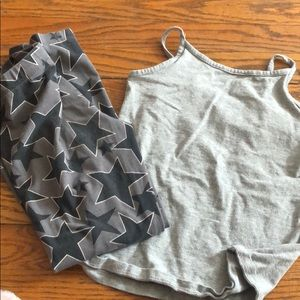 Tank and Legging Set with Stars
